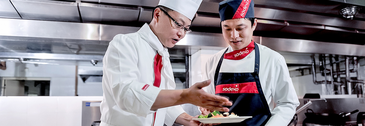 Sodexo Chefs cooking -