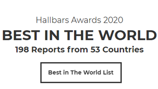 The Hallbars Awards 2020 - Best in the World