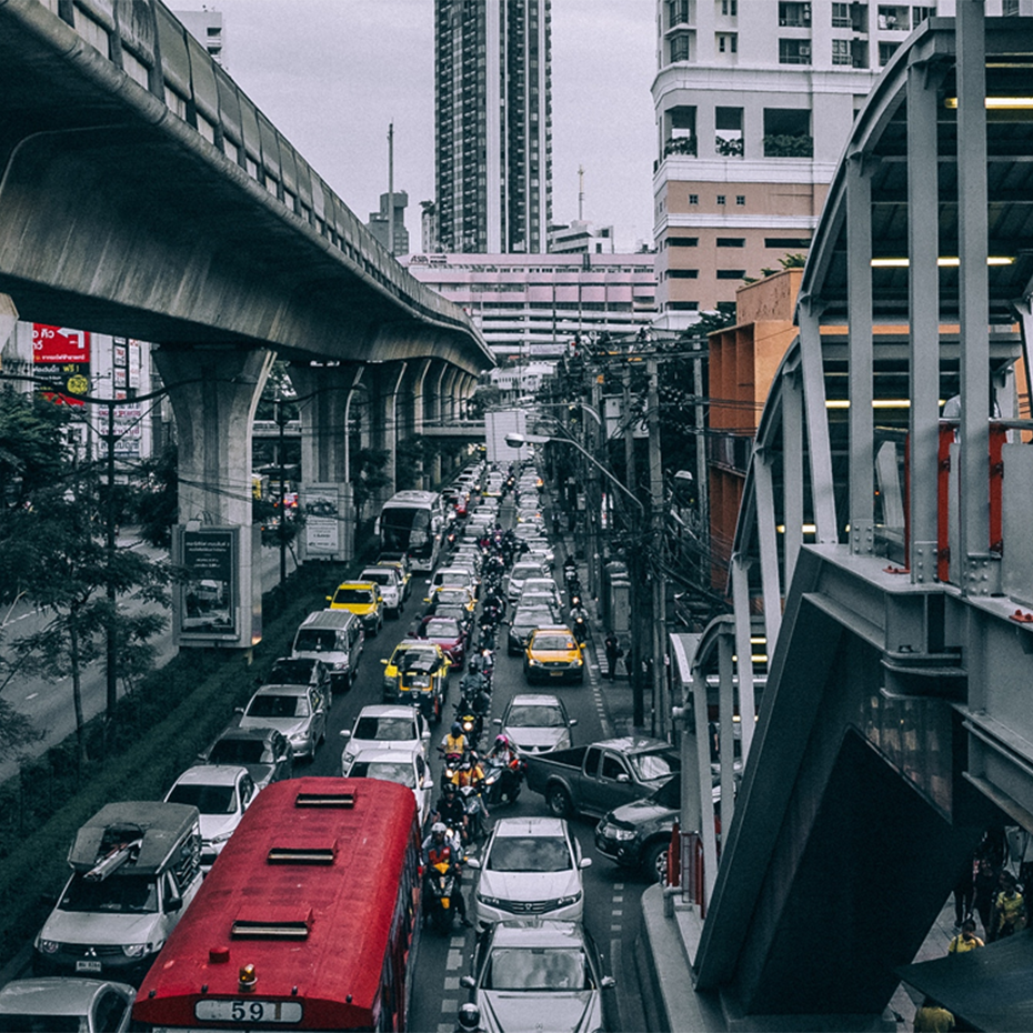 Traffic in a city